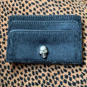 Alexander McQueen calfskin credit card holder